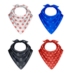 bandana polkadot pattern set vector image