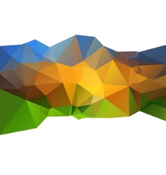 Beautiful abstract background triangle color vector image
