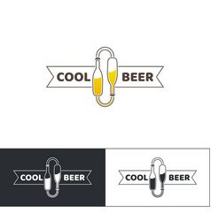 beer logo two vector image