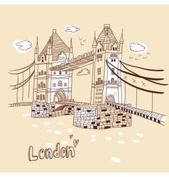 big ben and house parliament london uk vector image