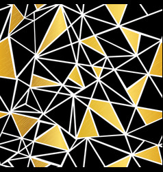 Black white and gold foil geometric vector