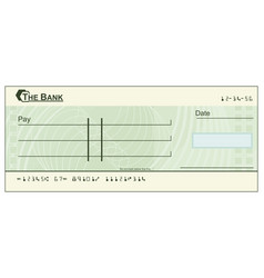 Blank cheque vector