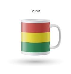 Bolivia flag souvenir mug on white background vector
