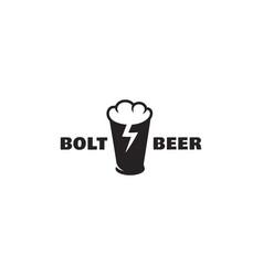 bolt beer logo vector image