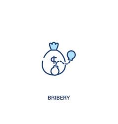 Bribery concept 2 colored icon simple line vector