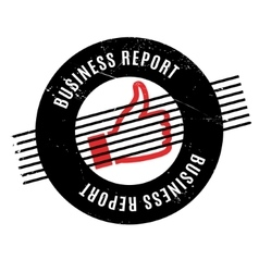 Business Report rubber stamp vector