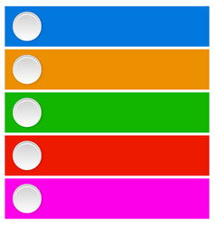 Button element in various colors template vector
