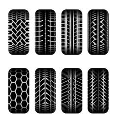 Cars tire tracks shadow vector
