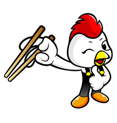 Cartoon chicken character is best gestured vector