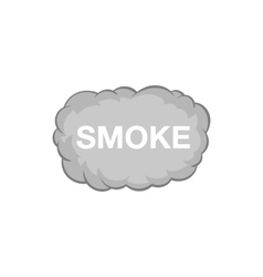 Cloud of smoke icon black monochrome style vector image