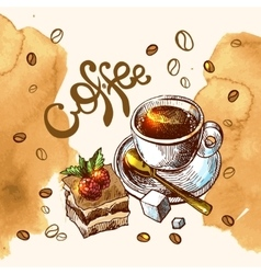 Coffee sketch vector