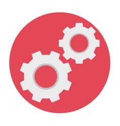 cogwheels flat icon vector image