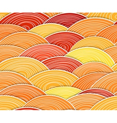 Curled abstract orange waves vector