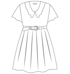 cute female dress on white background vector image