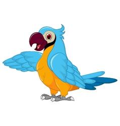 cute parrot cartoon posing vector image
