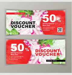 Discount voucher template for salads clean vector