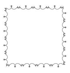 elegant victorian with square shape frame vector image