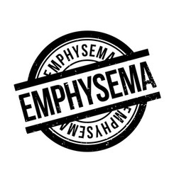 Emphysema rubber stamp vector