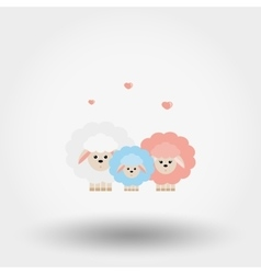 Family of sheep vector image