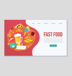 fast food delievery for web vector image