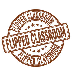 Flipped classroom brown grunge stamp vector