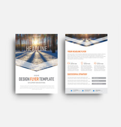 flyer template is a place for photos and elements vector image
