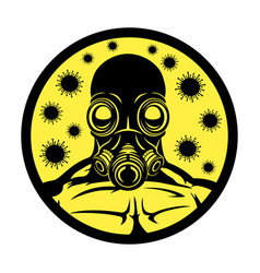 Gas mask and viruses vector