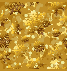 golden pattern seamless backgrounds with gold vector image