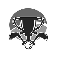 golf club or tournament award cup icon vector image