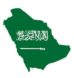green sketchy territory saudi arabia vector image