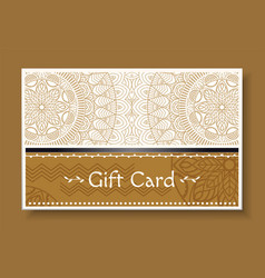 greeting with holiday gift card with pattern vector image