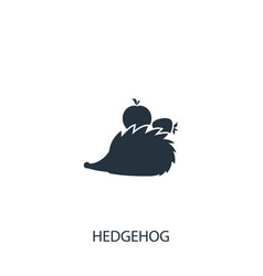 Hedgehog with fruits icon simple gardening vector