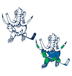Hockey player mammoth 1 vector
