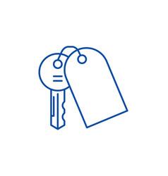 House keys line icon concept house keys flat vector