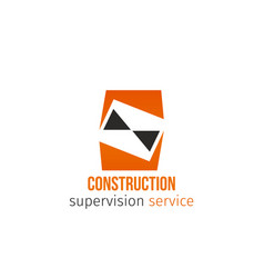 icon construction service vector image