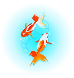 Japanese goldfishes vector