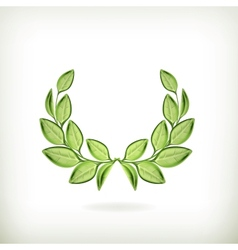 Laurel wreath green award vector image vector image