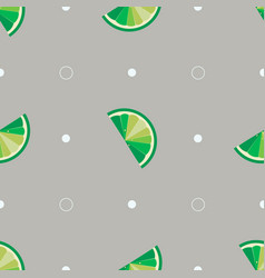 lime slices seamless pattern bright tropical vector image