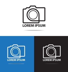 Line camera logo vector