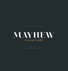Luxury alphabet letters font classic modern vector