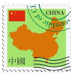 Mail to-from China vector