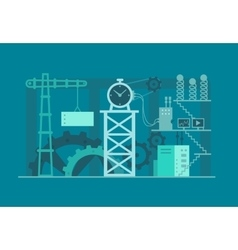 Mechanism clock industrial vector