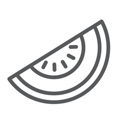 melon line icon fruit and vitamin diet sign vector image