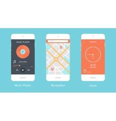 Mobile UI vector image
