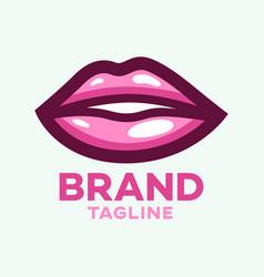 Modern beautiful lips logo vector