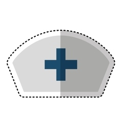 Nurse hat uniform isolated icon vector