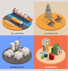 oil industry isometric concept vector image