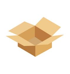 opened cardboard package box vector image