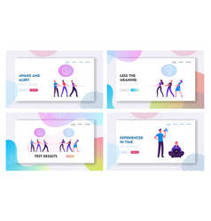 opposite groups arguing business competition vector image