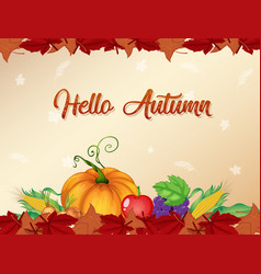 orange autumn template background vector image